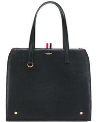 Thom Browne Soft Tote Bag - Black
