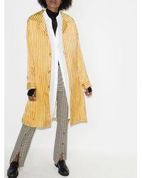 Bode Mashroo Stripe Long Coat - Yellow