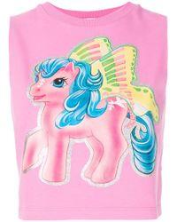 Moschino - My Little Pony Crop Top - Lyst