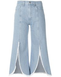 Citizens of Humanity - Front Slit Cropped Jeans - Lyst