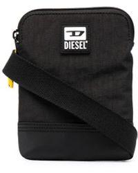DIESEL ロゴ メッセンジャーバッグ - ブラック