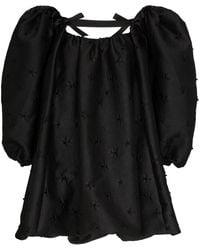 ShuShu/Tong Robe courte à manches bouffantes - Noir