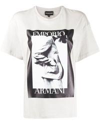 Emporio Armani ロゴ Tシャツ - グレー
