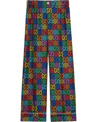 Gucci GG Psychedelic Print Pyjama Trousers - Black