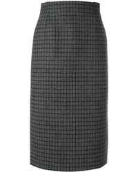 N°21 チェック柄 ペンシルスカート - ブラック