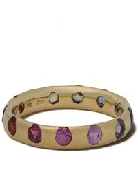 Polly Wales 18kt Yellow Gold Celeste Rainbow Ring - Metallic