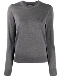 DSquared² Crew-neck Wool Jumper - Grey