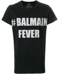 Balmain - # Fever Print T-shirt - Lyst