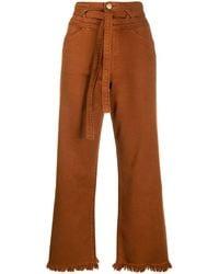 J Brand Sukey High Rise Cropped Jeans - Orange