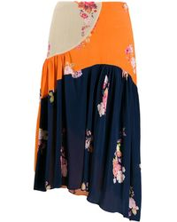 Preen Line Lilja カラーブロック スカート - ブルー
