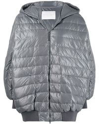 Fabiana Filippi Padded Zipped Coat - Gray
