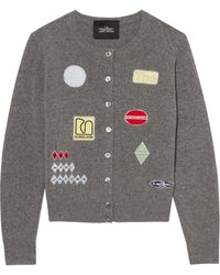 Marc Jacobs The Embroidered Cardigan - Grey