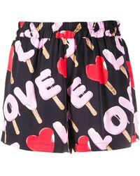 Love Moschino - ロゴ ショートパンツ - Lyst