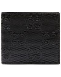 Gucci GG Embossed Coin Wallet - Black