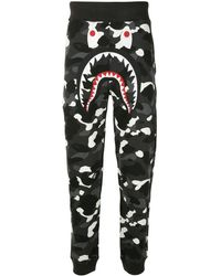 A Bathing Ape City Camo Shark トラックパンツ - グレー