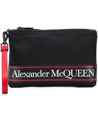 Alexander McQueen ロゴ クラッチバッグ - ブラック
