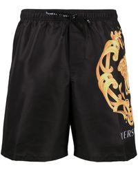 Versace ロゴ ショートパンツ - ブラック