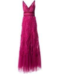 Marchesa notte Vestido de fiesta de tul - Rosa
