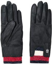 Tommy Hilfiger Signature Rib Cuff Gloves - Black