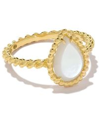 Boucheron 18kt Yellow Gold Serpent Bohème Mother-of-pearl S Motif Ring - Metallic