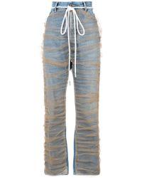 Off-White c/o Virgil Abloh | Straight-leg Tulle Jeans | Lyst