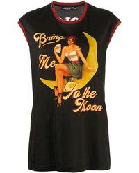 Dolce & Gabbana Топ С Принтом Bring Me To The Moon - Черный