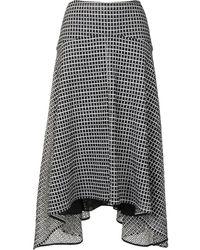 PROENZA SCHOULER WHITE LABEL Broderie-anglaise Asymmetric Skirt - Black