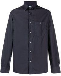 Officine Generale Рубашка С Длинными Рукавами И Накладным Карманом - Синий