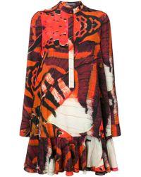 Alexander McQueen - Printed Dress - Lyst
