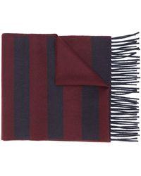 Ferragamo Sjaal Met Colourblocking - Rood