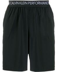 Calvin Klein Shorts Met Logo Tailleband - Zwart