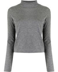 Hermès Top con scollo a imbuto Pre-owned - Grigio
