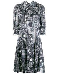 CHARLES JEFFREY LOVERBOY Printed Shirt Dress - ブラック