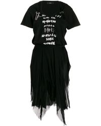 DIESEL Mesh Graphic Tutu Dress - Black