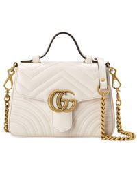 Gucci GG Marmont Kleine Tas - Wit
