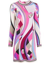Emilio Pucci Платье С Абстрактным Принтом - Розовый