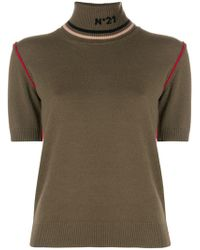 N°21 - Neck Detail Knitted Top - Lyst
