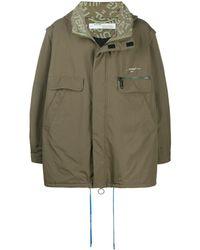Off-White c/o Virgil Abloh Oversized Hooded Coat - Green