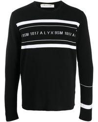 1017 ALYX 9SM ロゴ ストライプ プルオーバー - ブラック