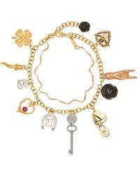 Dolce & Gabbana Family チャーム ブレスレット 18kゴールド - メタリック