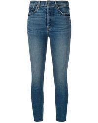 GRLFRND Cropped Skinny Jeans - Blauw