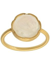 Irene Neuwirth 18kt Yellow Gold Rose Cut Rainbow Moonstone Ring - Metallic