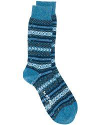 N.Peal Cashmere Носки Fairisle - Синий