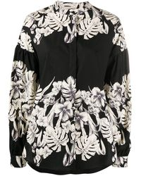 Twin Set Floral Print Shirt - Black
