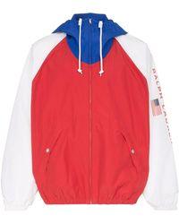 Polo Ralph Lauren Chaqueta liviana con diseño colour block - Rojo