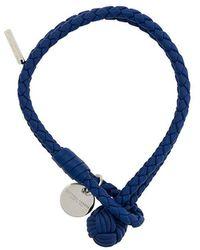 Bottega Veneta - Cobalt Intrecciato Nappa Bracelet - Lyst