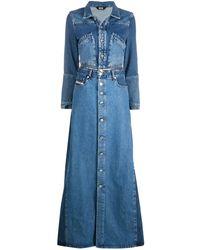 DIESEL Convertible Denim Coat - Blue
