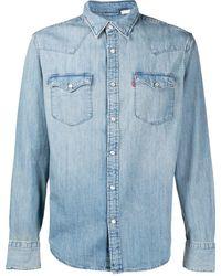 Levi's Camicia denim Barstow Western - Blu