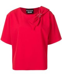 Boutique Moschino - Bow T-shirt - Lyst