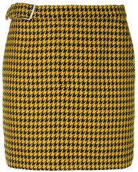 McQ - Dogtooth Mini Skirt - Lyst